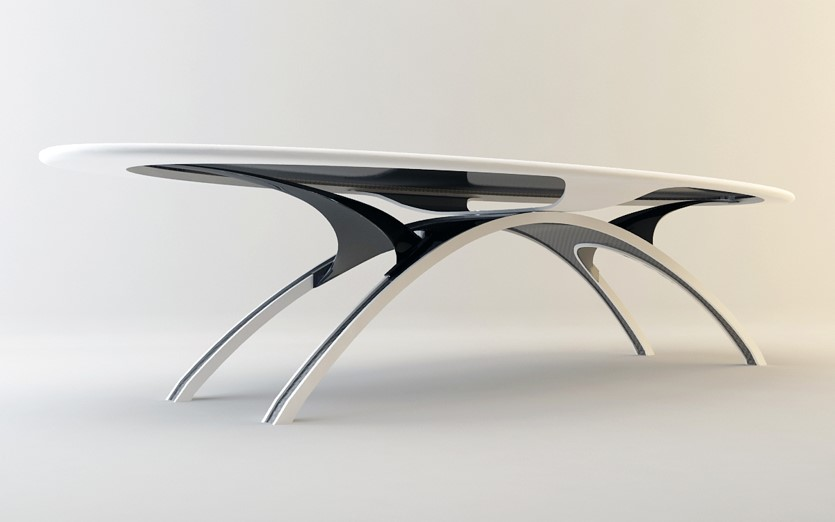 Table en Corian® & Carbone